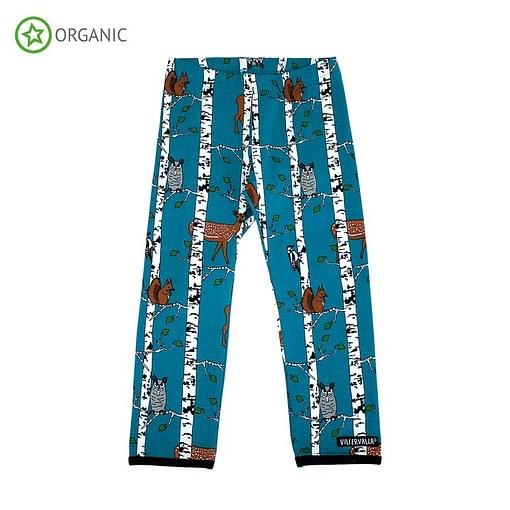 Villervalla birch animals organic cotton leggings - atlantic blue 1
