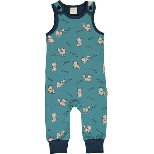 Arctic fox organic cotton dungarees - Maxomorra 1