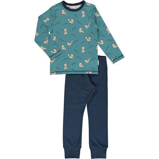 Arctic fox organic cotton pyjamas by Maxomorra 1