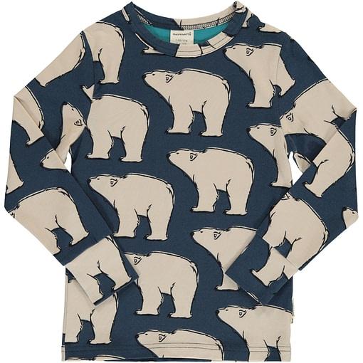 Polar bear organic cotton long sleeve top - Maxomorra 1