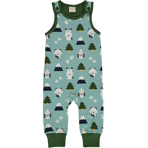 Winter World animals organic cotton dungarees - Maxomorra 1