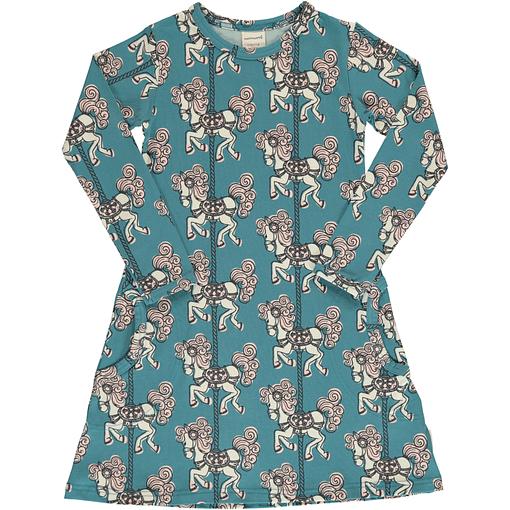 Merry Go Round organic long sleeve cotton dress ~ Maxomorra 1