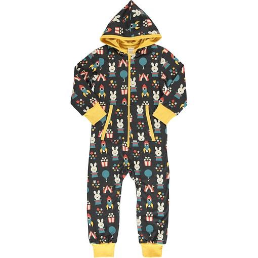 Maxomorra fun park organic cotton hooded onesie (74/80cm 9-12 months) 1