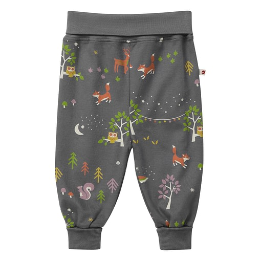 Winter woodland pull up organic cotton trousers by Piccalilly (92cm 18-24 months) 1