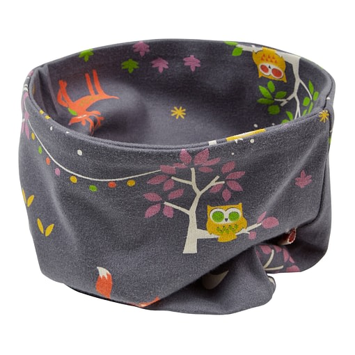 Neckwarmer in Winter woodland print by Piccalilly - child 1