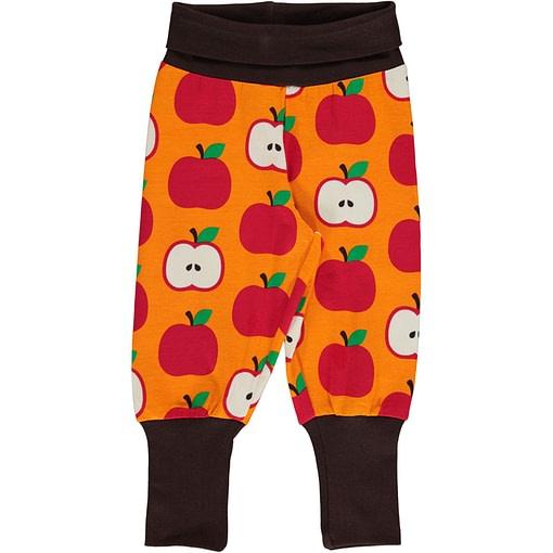Maxomorra Apple organic cotton rib pants ~ Maxomorra 1