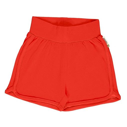 Maxomorra 'poppy red' runner shorts organic cotton ~ solid (18-24 months 86/92cm) 1