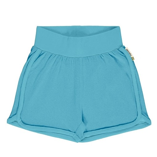 Maxomorra sky blue runner shorts organic cotton ~ solid 1