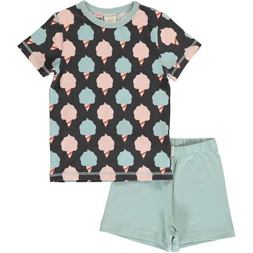Maxomorra cotton candy organic short sleeve summer pyjamas 1