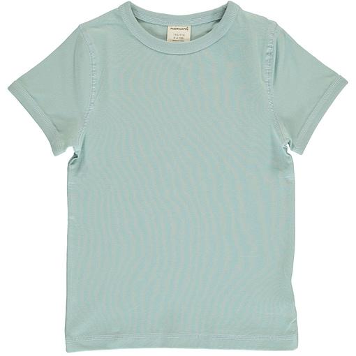 Icy blue basics short sleeve organic t-shirt by Maxomorra (122/128cm 7-8 years) 1