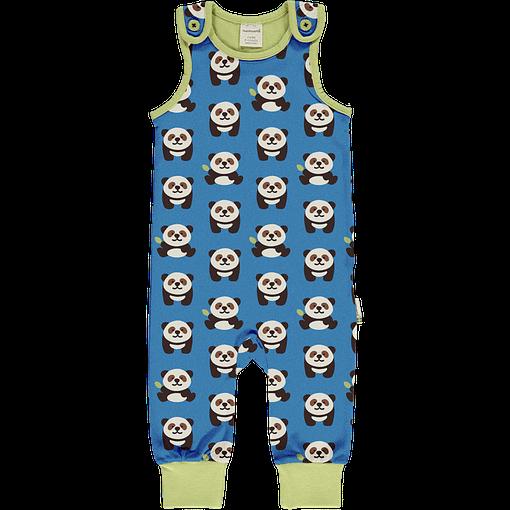 Panda organic cotton playsuit - Maxomorra (74/80cm Age 9-12 months) 1