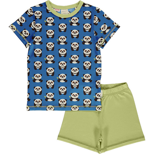 Maxomorra panda organic short sleeve summer pyjamas (98/104 3-4) 1
