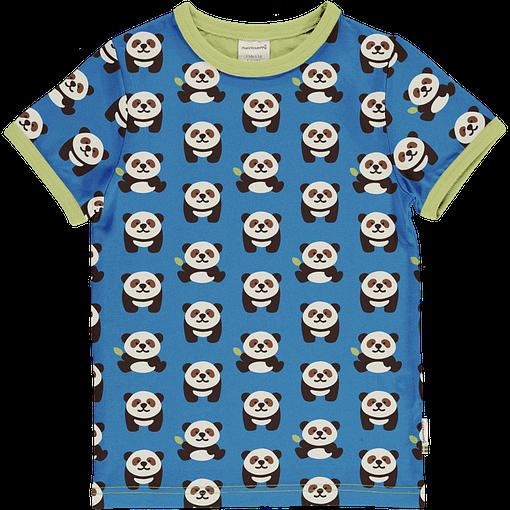 Panda print organic short sleeve t-shirt - Maxomorra 1