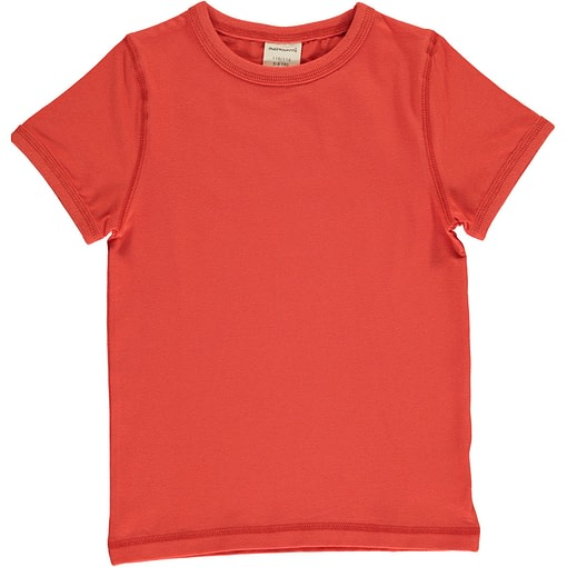 Rowan red basics short sleeve organic t-shirt by Maxomorra 1