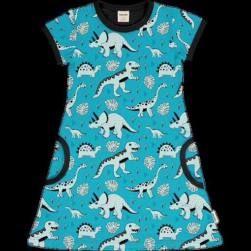 Meyadey Dinosaur organic short sleeve cotton dress (86/92 18-24 months) 1