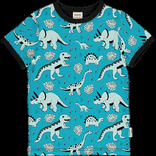 Dino forest print organic short sleeve t-shirt - Meyadey 1