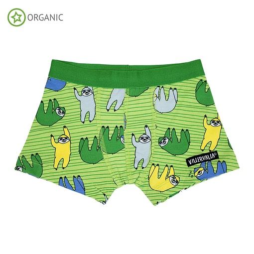 Villervalla organic cotton boxers - Sloth pea 1