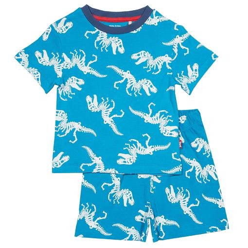 T-Rex print pyjamas in organic cotton by Kite 1