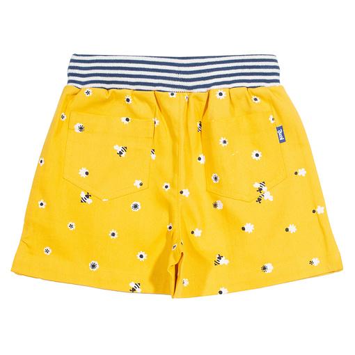 Honey bee shorts in sunny yellow organic cotton by Kite 2