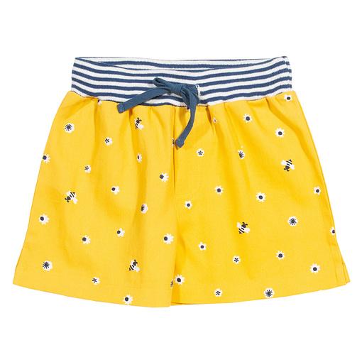 Honey bee shorts in sunny yellow organic cotton by Kite 1