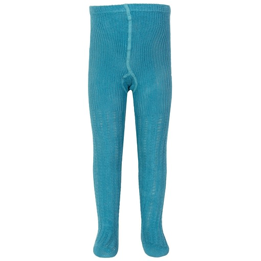 Kite blue cable rib tights in organic cotton (1-2 years) 1