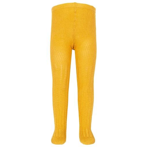 Kite mustard yellow cable rib tights in organic cotton (8-10 years) 1