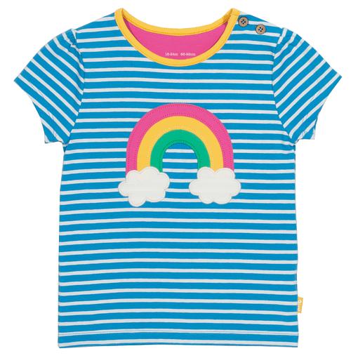 Rainbow t-shirt in organic cotton by Kite 1