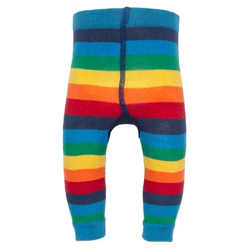 Kite rainbow stripy knit leggings in organic cotton 2