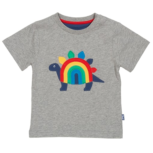 Rainbow-saurus t-shirt in organic cotton by Kite 1