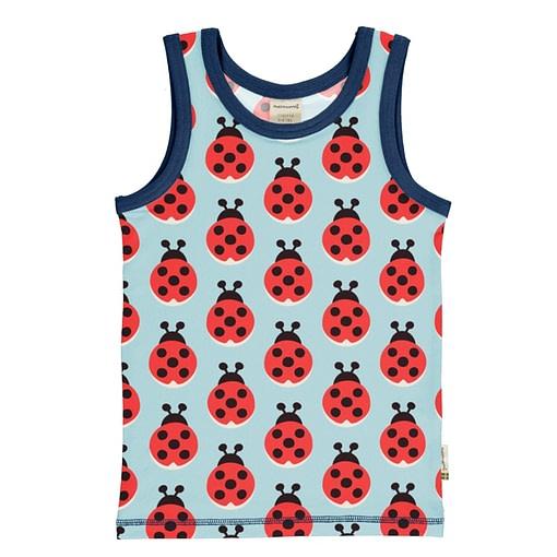 Maxomorra ladybug sleeveless vest