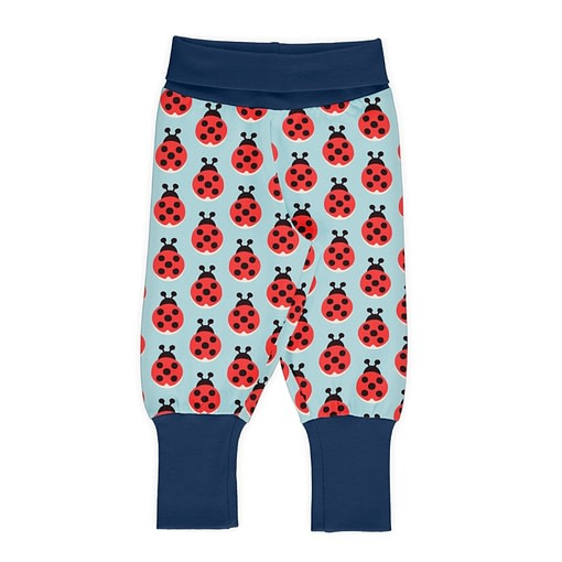 Maxomorra ladybug rib pants