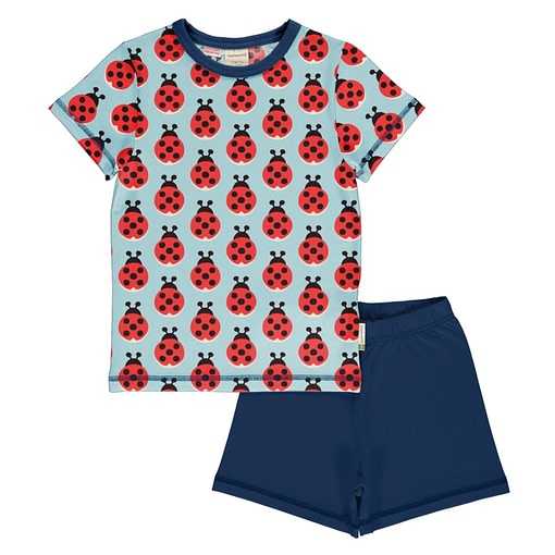 Maxomorra ladybug summer pyjamas