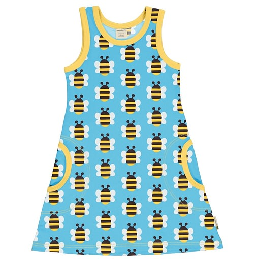 Maxomorra sleeveless bumblebee dress