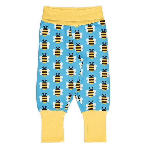 Humble Bumblebee organic cotton rib pants - Maxomorra 1