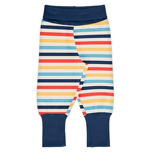 Milk stripe organic cotton rib pants - Maxomorra 1