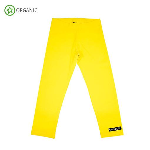 Villervalla yellow organic leggings