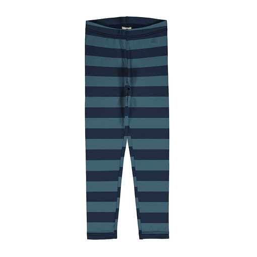 Maxomorra navy stripe leggings