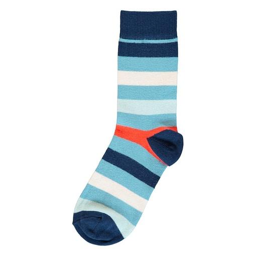 Maxomorra sky blue stripy socks