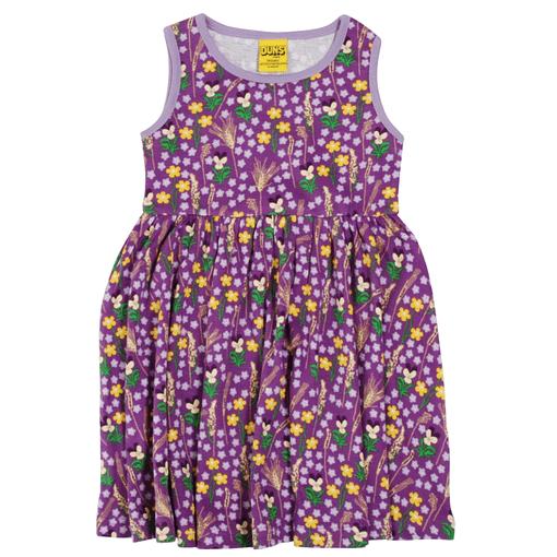 DUNS Sweden dress in purple meadow priint