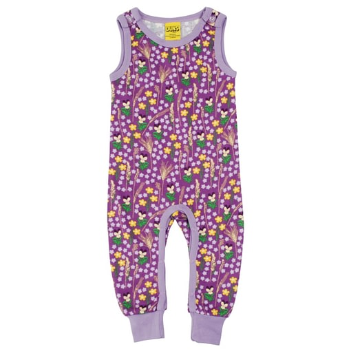 DUNS Sweden meadow dungarees in purple