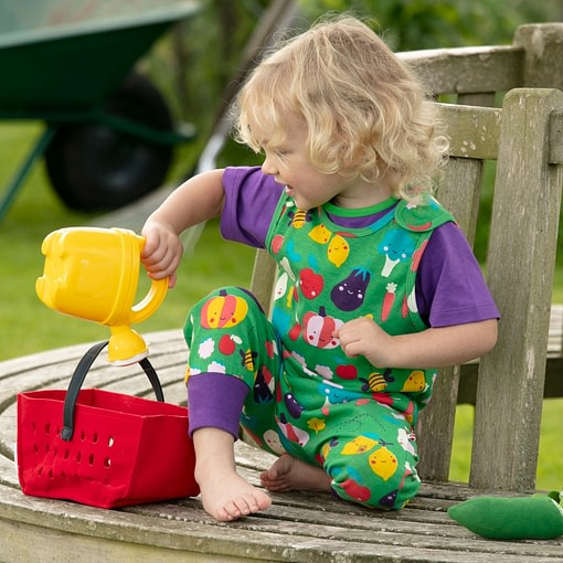 Piccalilly grow your own vegetables dungarees