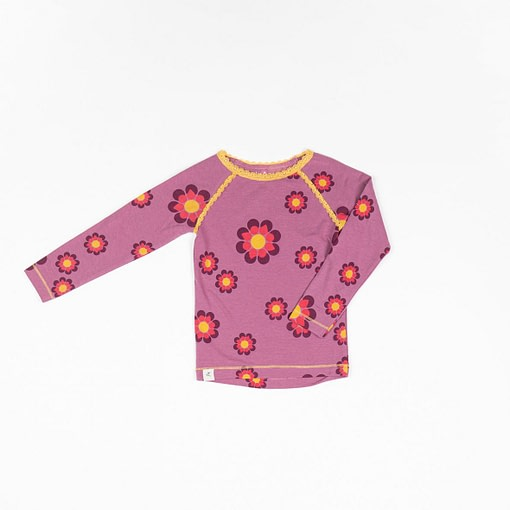 Alba Ghita blouse flower power bordeaux