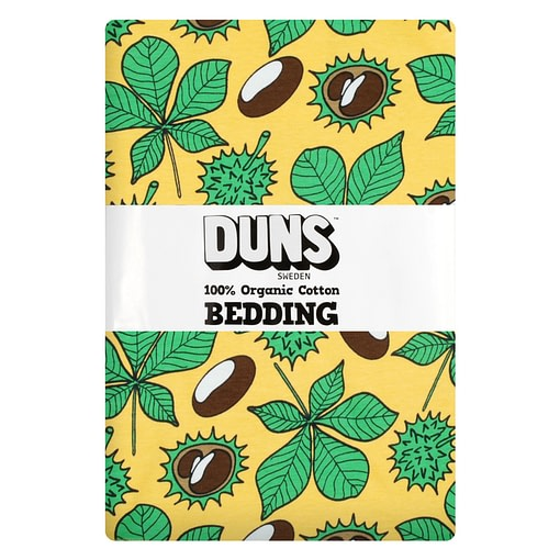 DUNS Sweden duvet cover yellow conkers