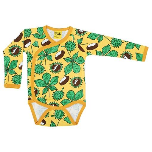 DUNS Sweden baby vest conkers yellow