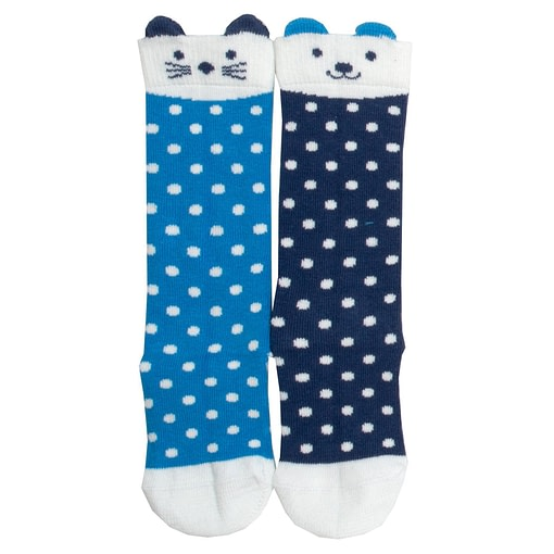 Kite knee length dot socks