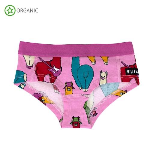Villervalla ethical underwear llamas lotus