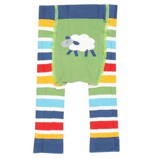 Kite stripy knit leggings - sheep