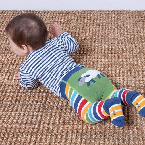 Kite organic stripy knit leggings