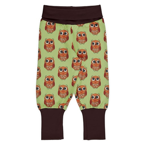 Maxomorra rib pants owls