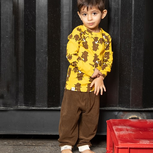 Alba Terry trousers - chocolate brown